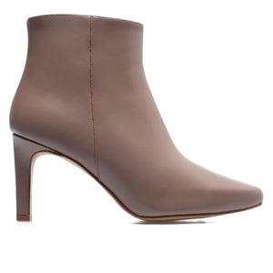 STILETTO - bottines kitten heel cuir TAUPE