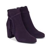 BOTTINES BOHO à talon violet