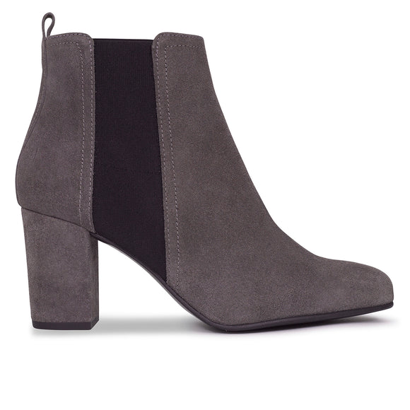 BOTTINES URBAN à talon GRIS