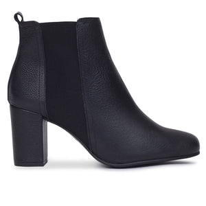 BOTTINES URBAN à talon NOIR