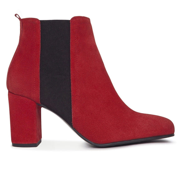 BOTTINES URBAN à talon ROUGE