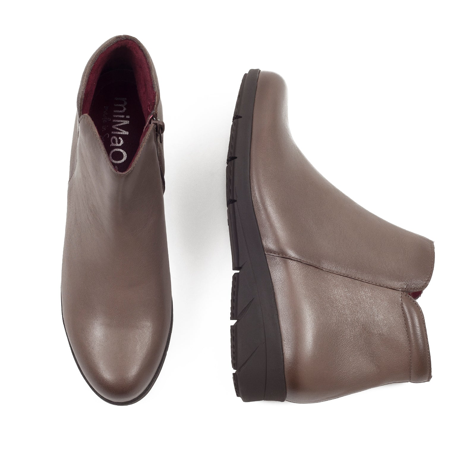 Bottine pour femme confortable 100% cuir YOGA- miMaO made in Spain ... a4c83764681