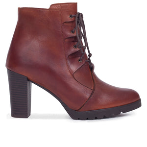 BOTTINES À LACETS marron