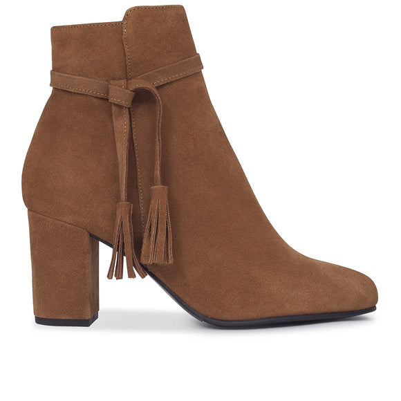 BOTTINES BOHO à talon marron