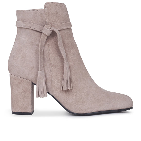 BOTTINES BOHO à talon nude