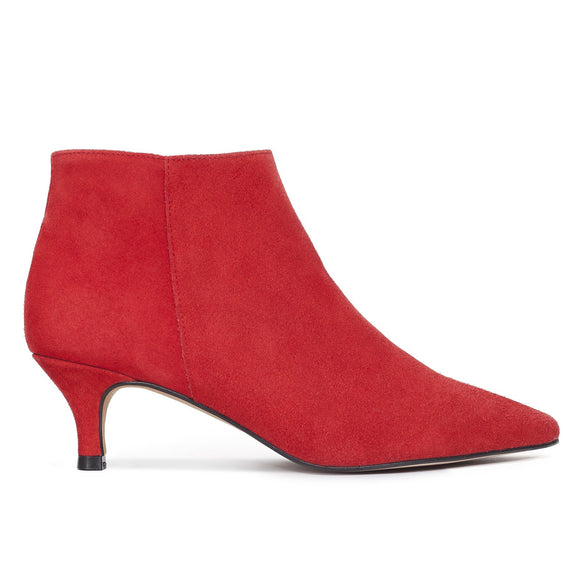 OUTFIT - bottines kitten heel rouge