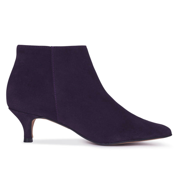 OUTFIT - bottines kitten heel violet