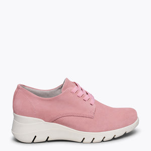 BLUCHER SPORT - Chaussure compensée confortable ROSE Memory Absorber Foam