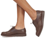 DERBY ANGLAIS- Blucher style oxford MARRON