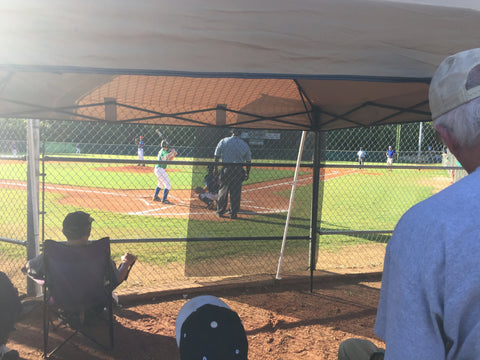 baseball shade tarp