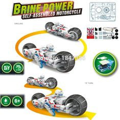 DIY Brine powered Motorcycle model kit