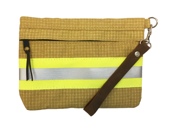 Bunker Gear Zipper Clutch in Tan