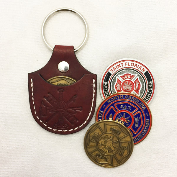 Leather Challenge Coin Holder