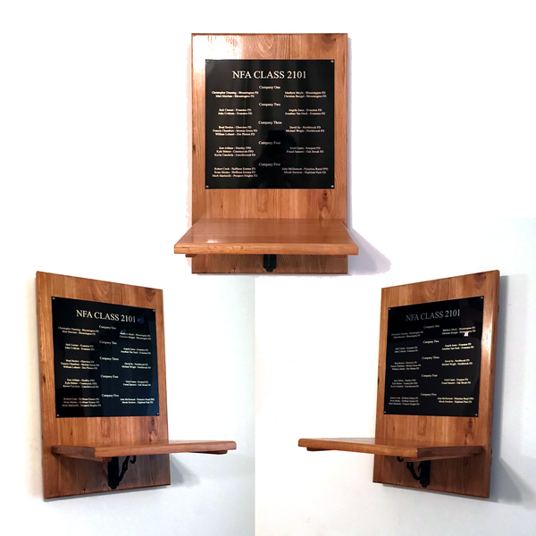 Display Shelf Fixed with Plaque