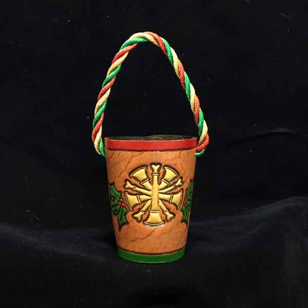 Leather Fire Bucket Christmas Ornament