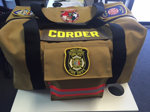 Bunker Gear Station Duffel with Patches