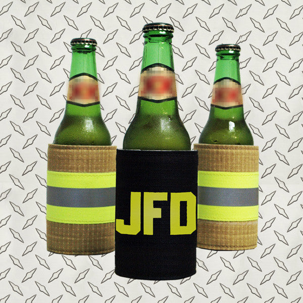 Turnouts koozie with letters