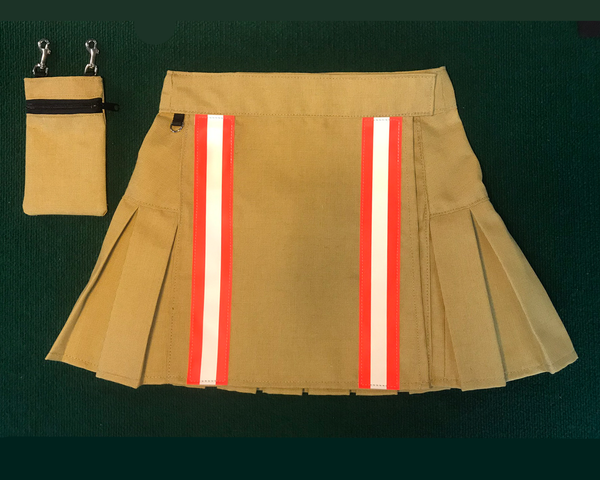 Mini Kilt Tan with Orange Front View