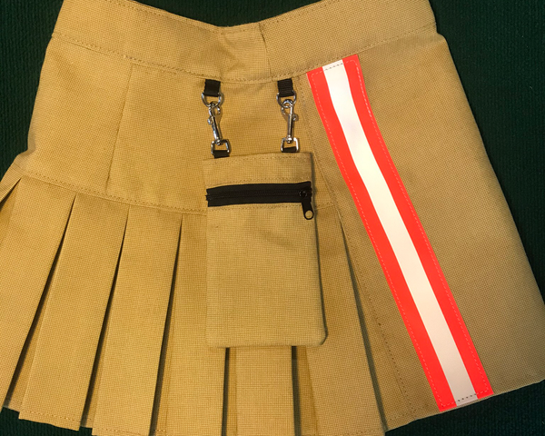 Mini Kilt Tan with Orange Hip Pocket