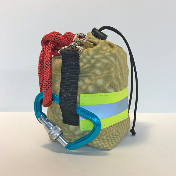 Tan Bunker Gear Rope Bag Back View