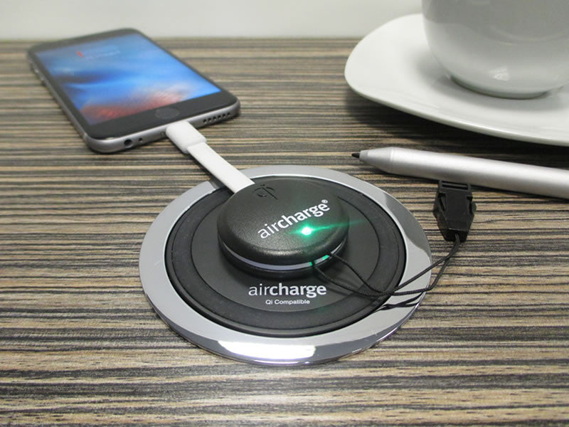 Mini récepteur à induction Aircharge pour iPhone et iPad (Apple Lightning)