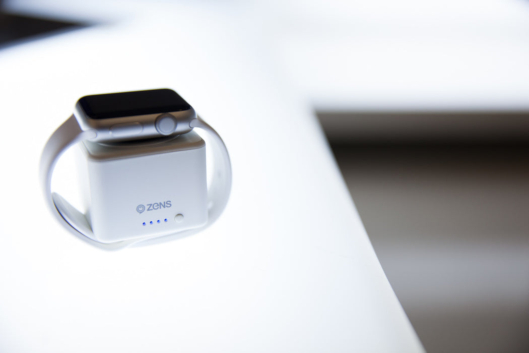 chargeur induction zens et powerbank pour apple watch wattcom france. Black Bedroom Furniture Sets. Home Design Ideas