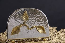 Napkin Holder Golden Leaf
