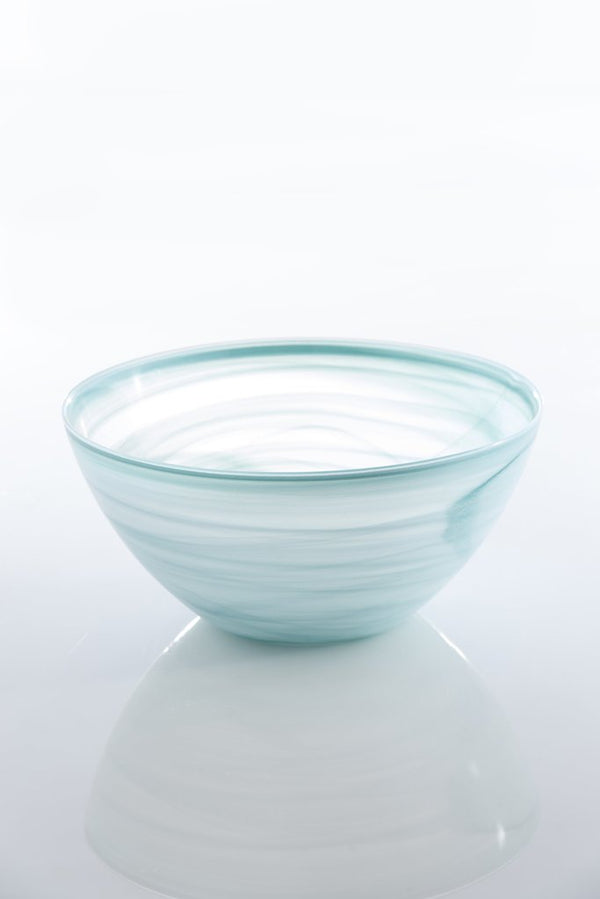 LARGE POLISHED ALABASTER ROUND BOWL