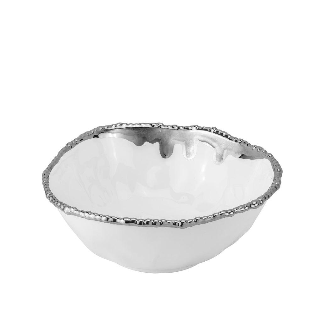 Bowl Paint Spill Silver