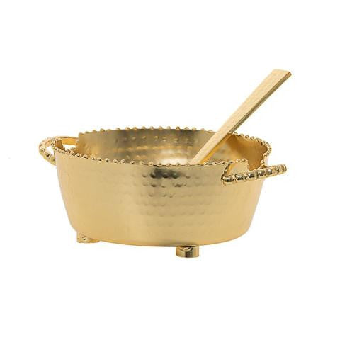 Beaded Container Dip Bowl with Spoon gold.jpg