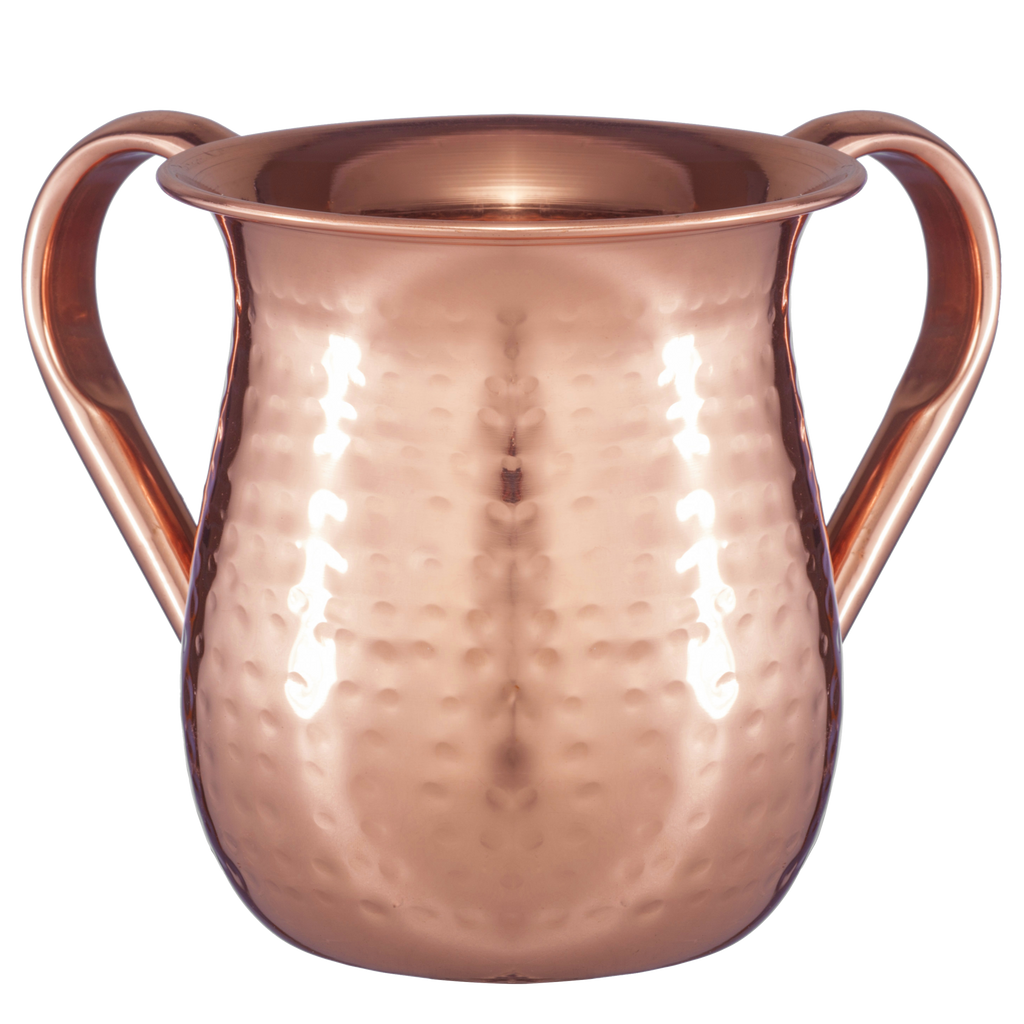Stainless Steel Washing Cup hammered Copper Plated.png