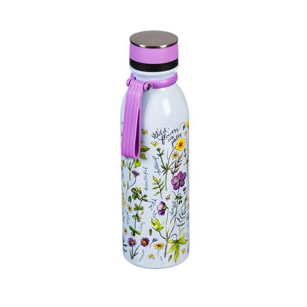 Double Wall, 20 OZ, Stainless Steel Refresh Traveler, Wild flowers are pretty