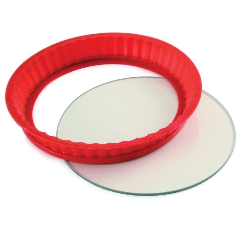 Silicone Cheesecake Pan With Tempered Glass Bottom