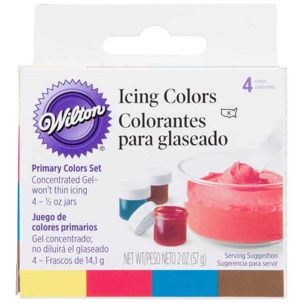 ICING COLORS PRIMARY 4 SET