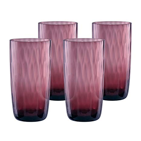 Pebbles Highball Glass, Set Of 4 Purple