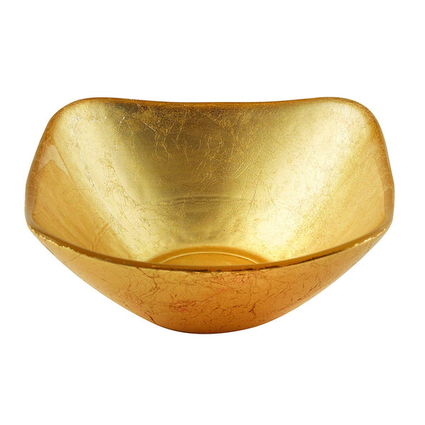 Elegance Atlas Square Gold Turkish Glass Bowl- <p><span><strong>Multiple Sizes</strong>