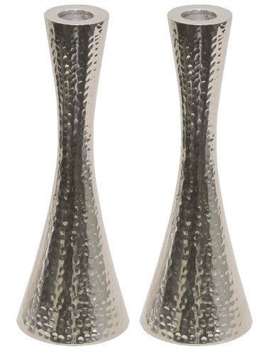 Candlestick Hammered Nickel Plated