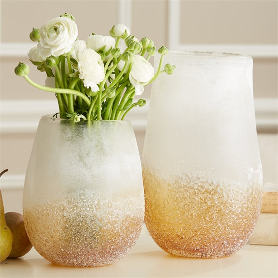 Horizons Glass Frosted Vase