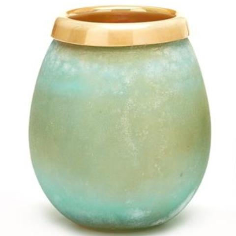 Positano Frosted Vase- Hand Blown Glass