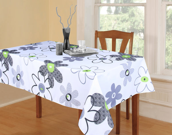 Flower Power Tablecloth  - Water Resistant- Wipe Down <strong>ASSORTED COLORS</strong>