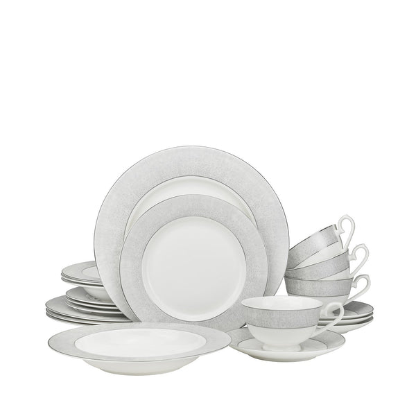 Galaxy Platinum 20 Piece Dinnerware