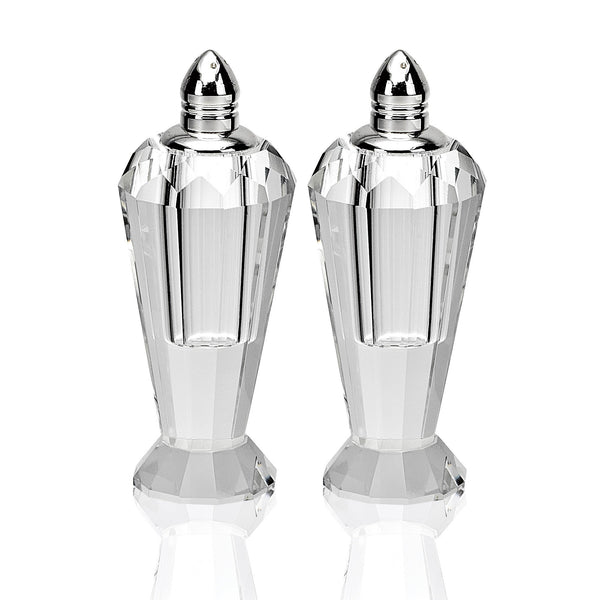 "Preston Salt & Pepper 4"" Silver Tops"