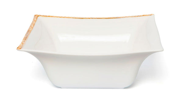 Square Salad Bowl Gold Relief
