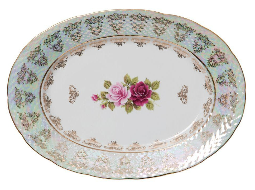 Gold Old Country Rose -Oval Platter