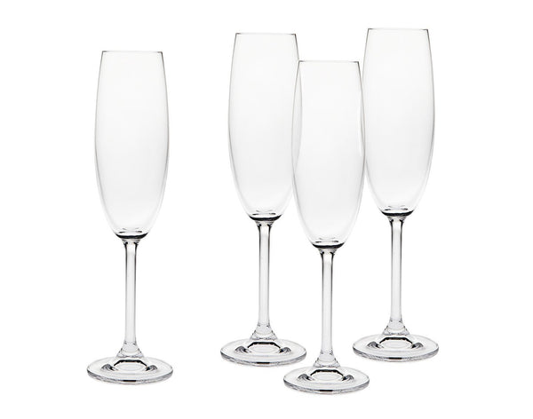 Meridian 7 Oz. Fluted Champagne Glasses - Set of 4