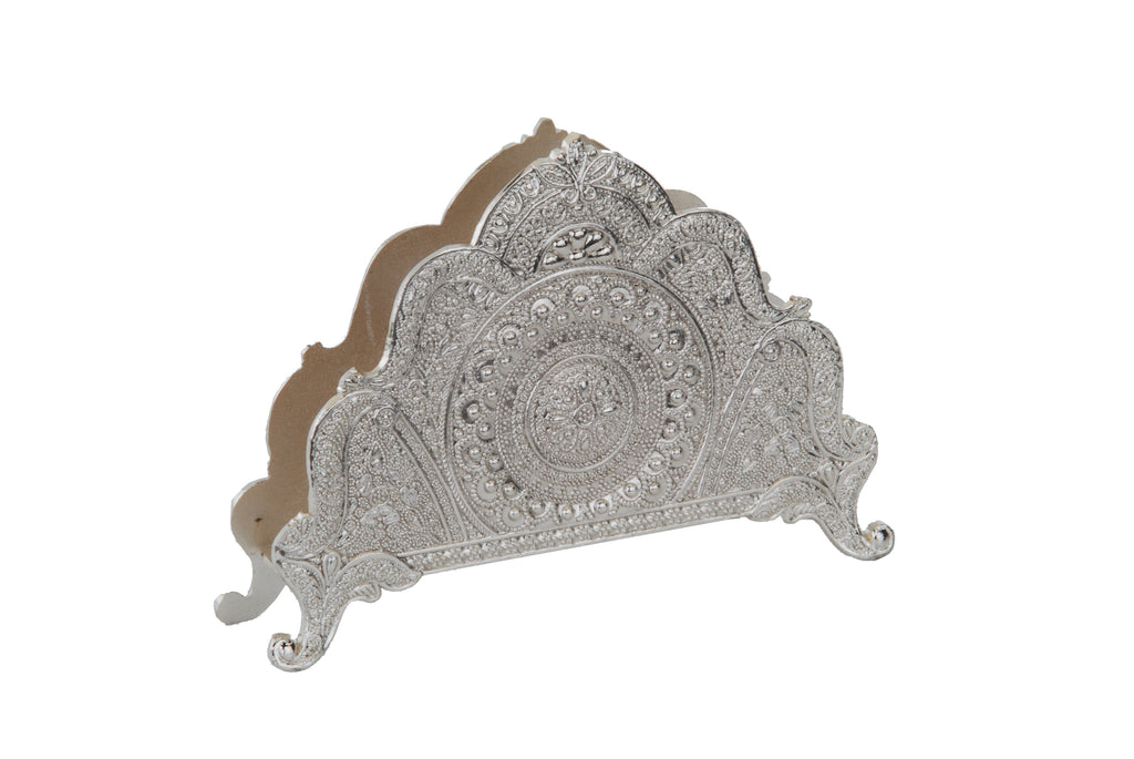 Napkin Holder Silver Plate Filigree