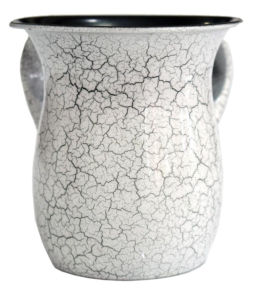 Wash Cup Stainless , White/ Black Marble