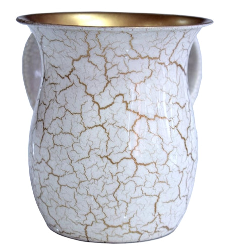 Wash Cup White/ Gold Marble