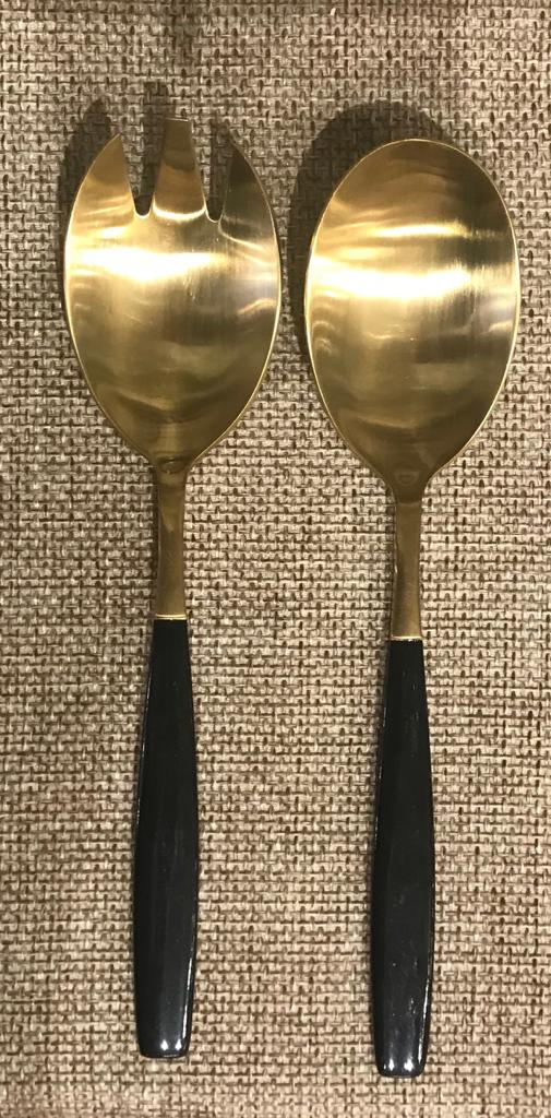 Chevalier Salad Set Gold/Black