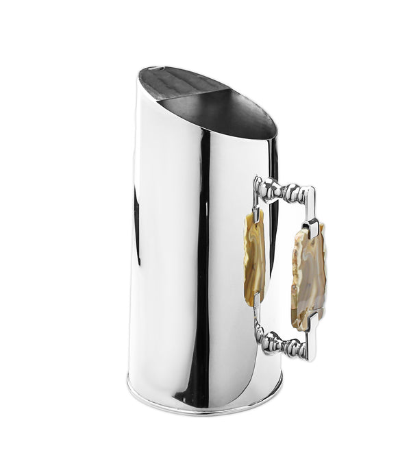 Stainless Steel Pitcher with Agate Stone Handle